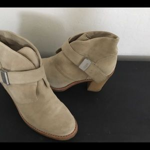 UGG Suede Booties with Side Buckle